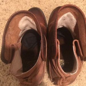 Freebird by Steven Shoes - Freebird Casey booties in brown.  Size 8.  Worn 1x